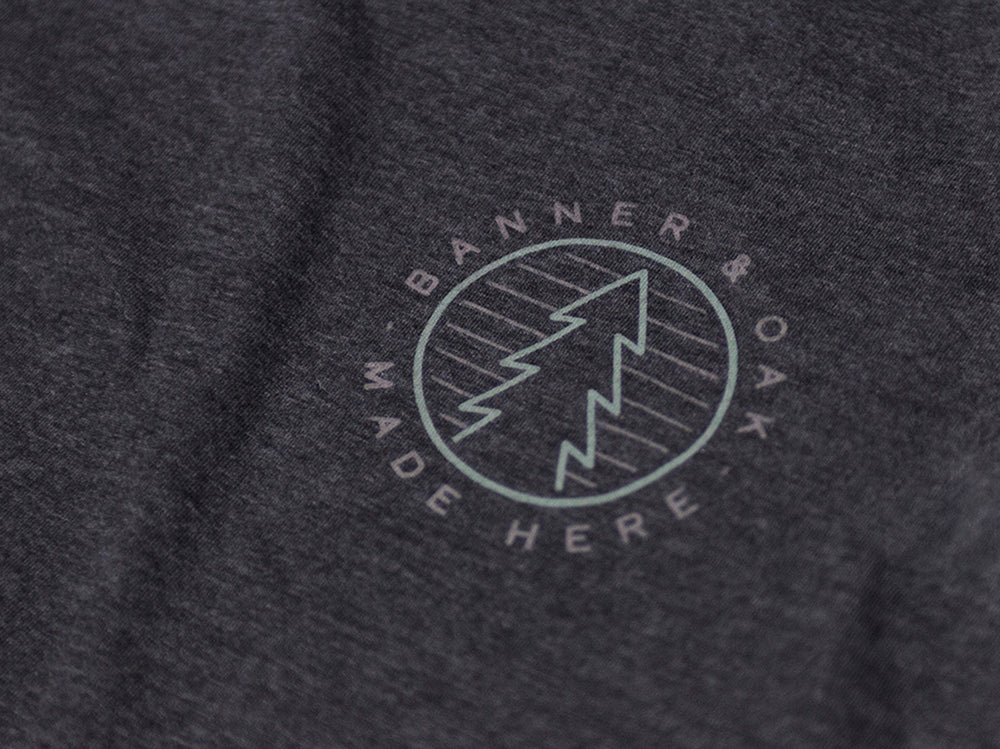 Camp Crewneck T-Shirt Dark Gray Left Chest View
