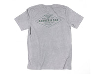 Hobbs Eagle Crewneck T-Shirt Charcoal Gray Back View