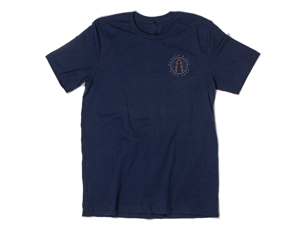 Camp Crewneck T-Shirt Navy Blue