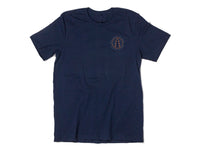 Camp Crewneck T-Shirt Navy Blue Front View