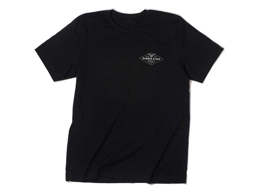 Hobbs Eagle Crewneck T-Shirt Black Front View