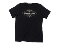 Hobbs Eagle Crewneck T-Shirt Black Back View