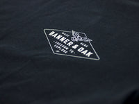 Hobbs Eagle Crewneck T-Shirt Black Left Chest View
