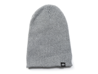 Range Knit Beanie Cap Charcoal Gray No Cuff Front View