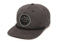 Mojave Scout Patch Snapback Cap Charcoal Front Right View