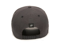 Mojave Scout Patch Snapback Cap Charcoal Back View