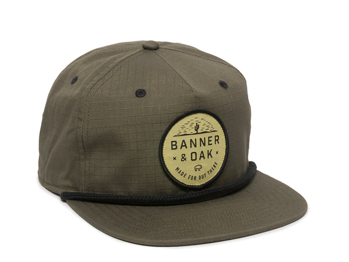 Mojave Scout Patch Snapback Cap Olive Green Front Left View