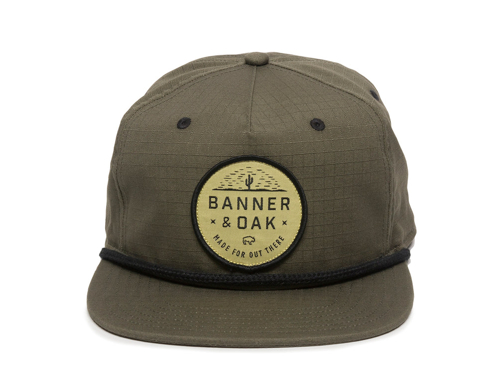 Mojave Scout Patch Snapback Cap Olive Green Front View