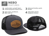 Nebo Leather - Charcoal