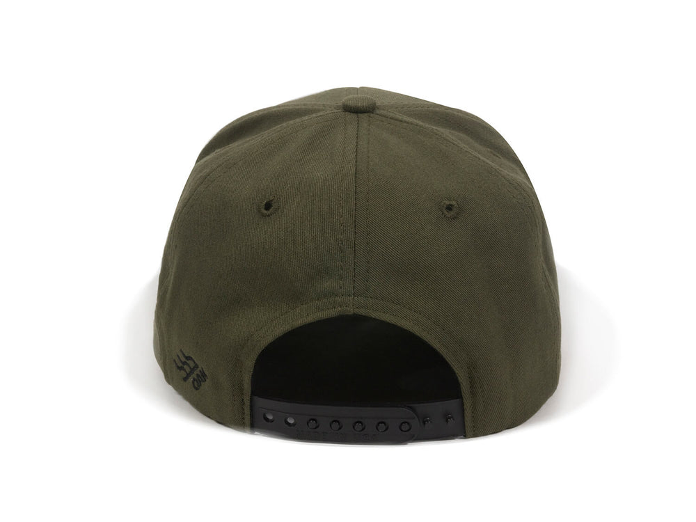 Nebo Scout Patch Snapback Cap Olive Green Back View