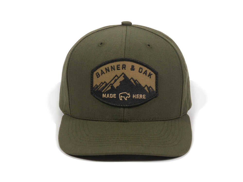 Nebo Scout Patch Snapback Cap Olive Green Front View