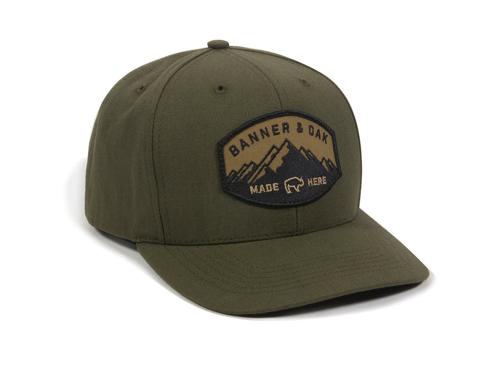 Nebo Scout Patch Snapback Cap Olive Green Front Left View