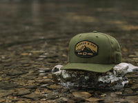 Nebo Scout Patch Snapback Cap Olive Green Lifestyle Image