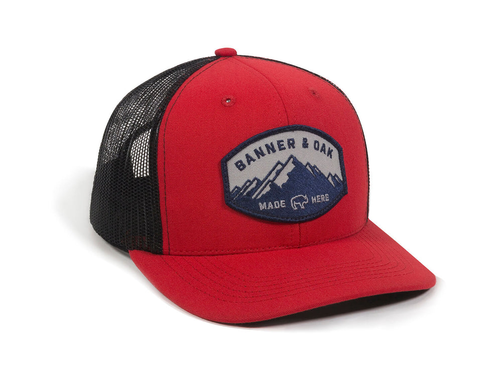 Nebo Scout Patch Snapback Trucker Hat Red