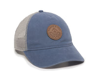 Pathfinder Scout Patch Snapback Trucker Ladies Fit Hat Blue Front Left View