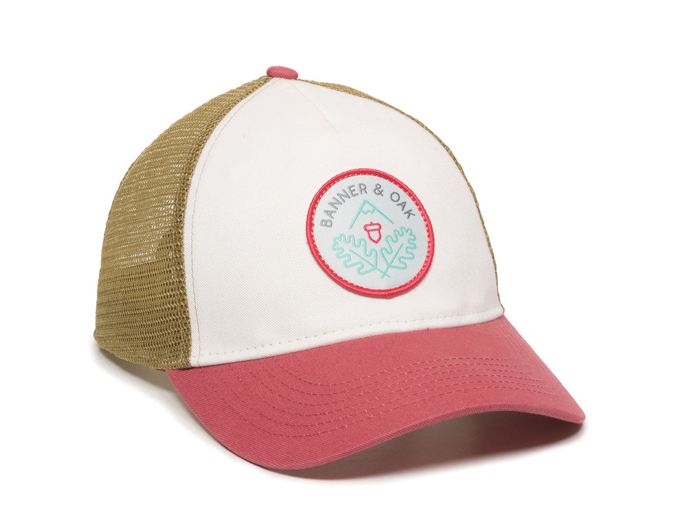 Pathfinder Scout Patch Snapback Trucker Ladies Fit Hat White Front Left View