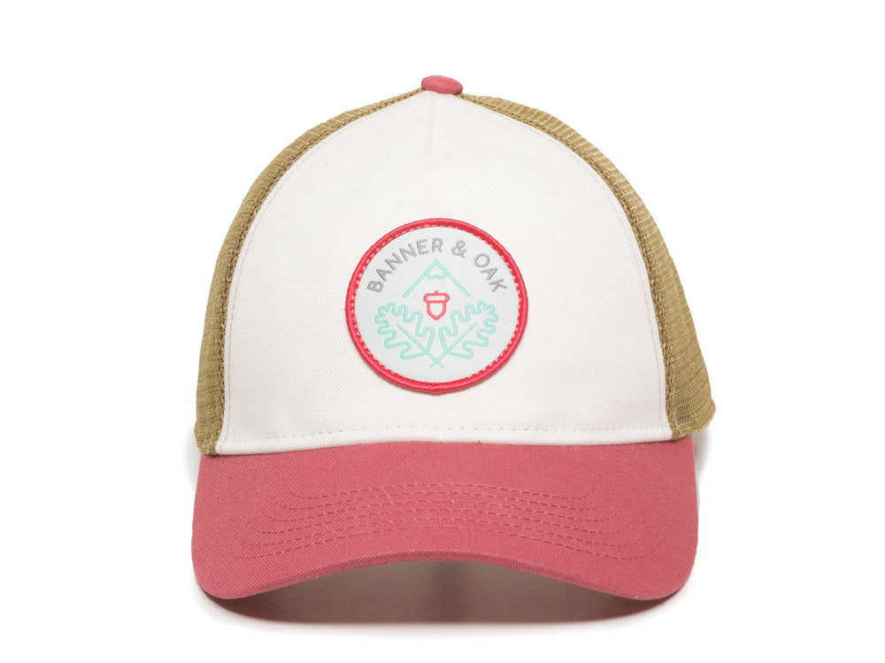 Pathfinder Scout Patch Snapback Trucker Ladies Fit Hat White Front View