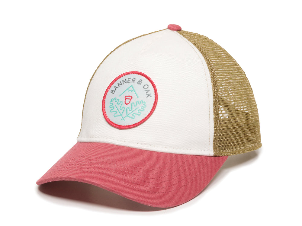 Pathfinder Scout Patch Snapback Trucker Ladies Fit Hat White Front Right View