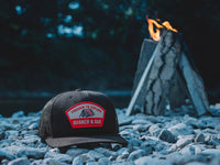 Scout Patch Snapback Trucker Hat Navy Blue Lifestyle Image