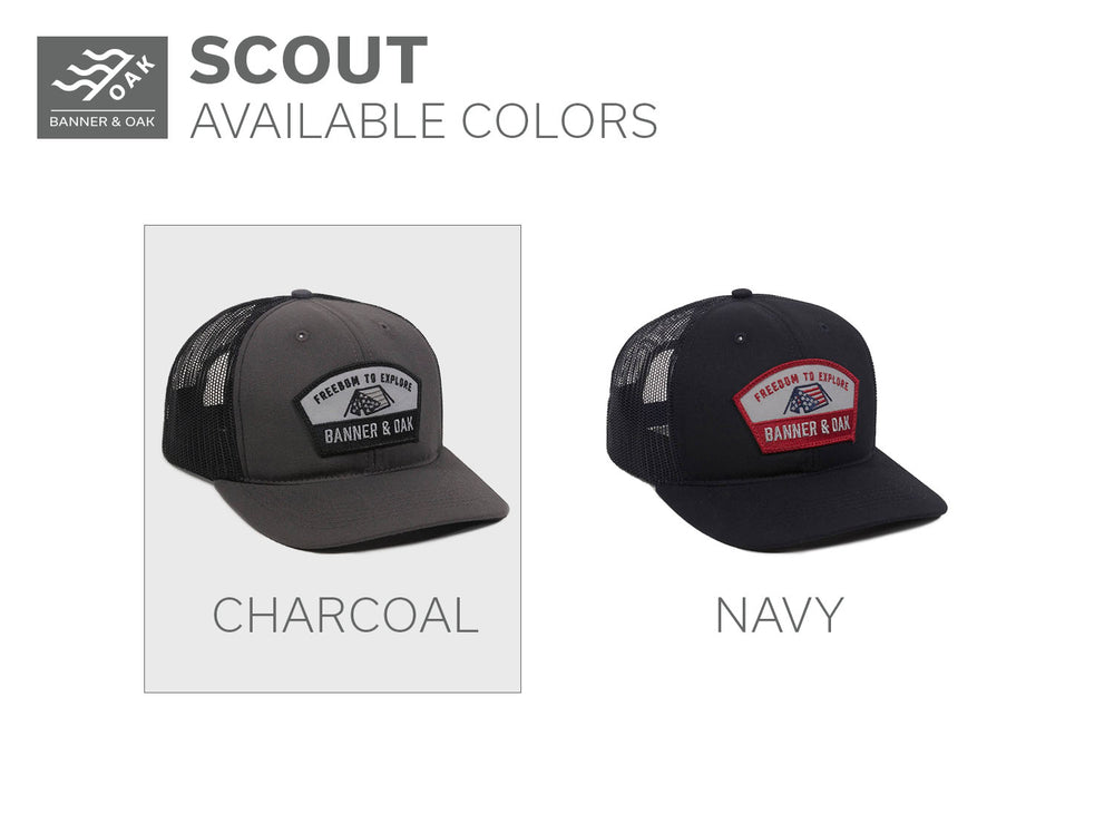 5498adb8d97a9c ... Trucker Hat Charcoal Back View; Scout - Charcoal ...