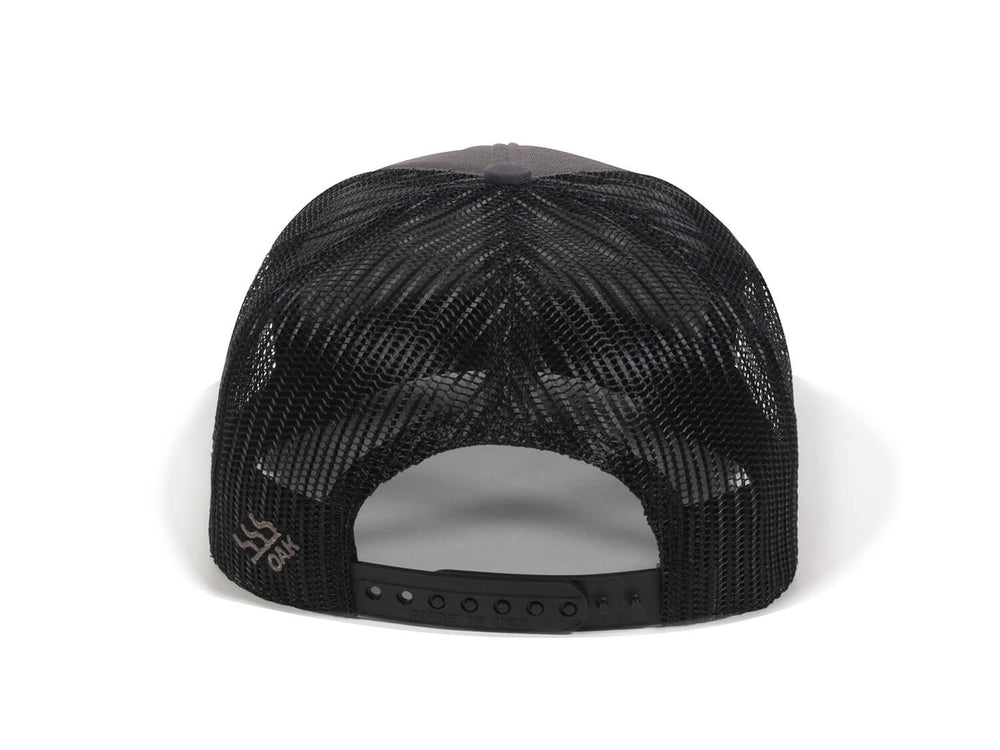Scout Patch Snapback Trucker Hat Charcoal Back View