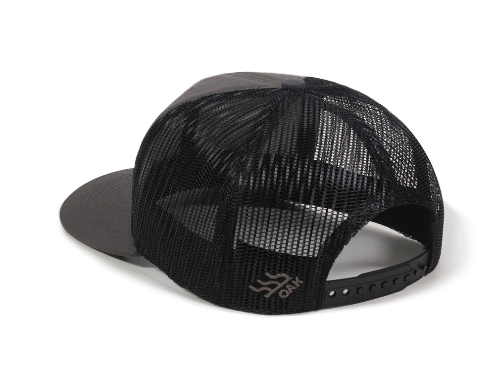 Scout Patch Snapback Trucker Hat Charcoal Logo Side Hit