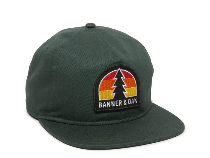 Switchback Embroidered Scout Patch Snapback Cap Spruce Green Front Left View