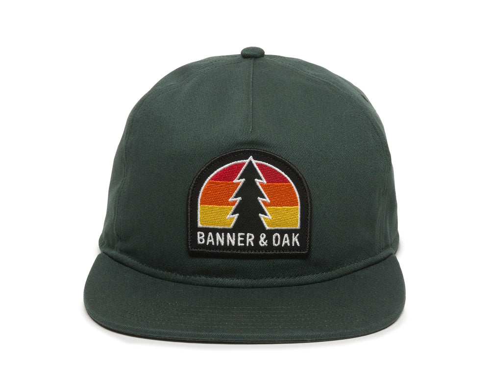Switchback Embroidered Scout Patch Snapback Cap Spruce Green Front View