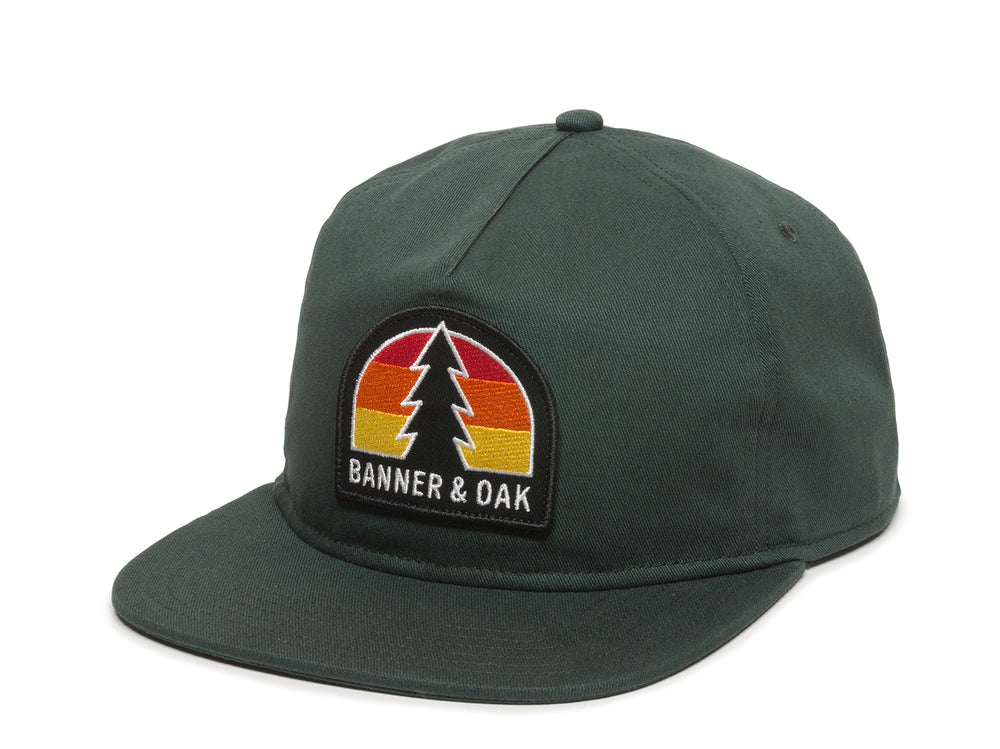 Switchback Embroidered Scout Patch Snapback Cap Spruce Green Front Right View
