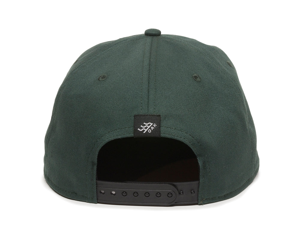Switchback Embroidered Scout Patch Snapback Cap Spruce Green Back View