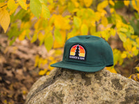 Switchback Embroidered Scout Patch Snapback Cap Spruce Green Lifestyle Image