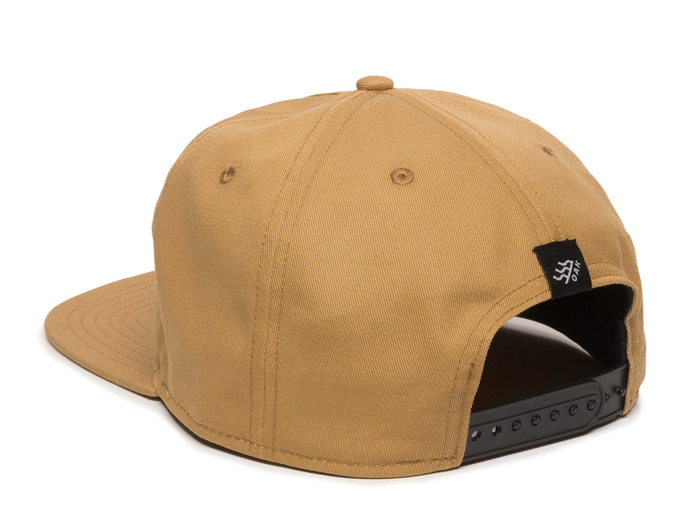 Switchback Embroidered Scout Patch Snapback Cap Khaki Logo Side Hit