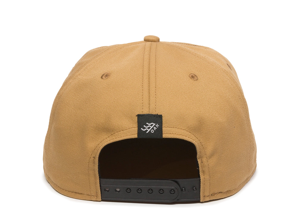 Switchback Embroidered Scout Patch Snapback Cap Khaki Back View