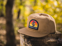 Switchback Embroidered Scout Patch Snapback Cap Khaki Lifestyle Image