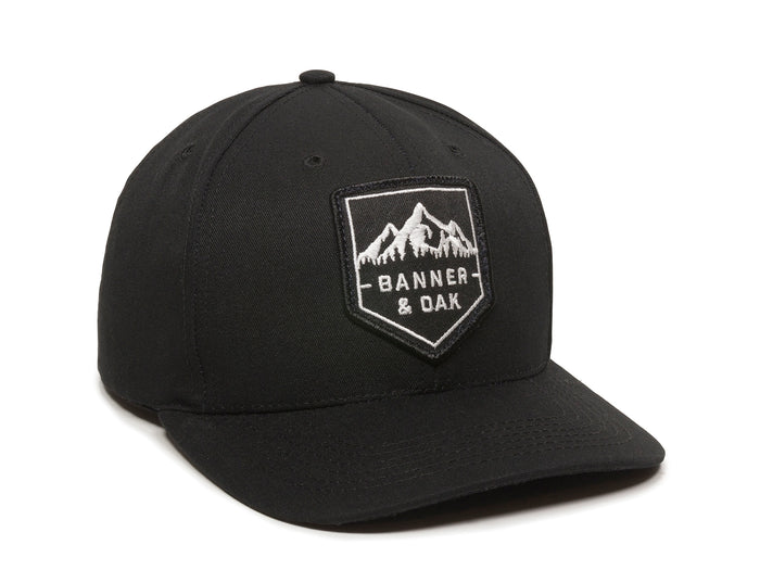 Sierra Scout Patch Snapback Cap Black Front Left View
