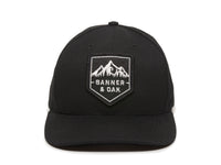 Sierra Scout Patch Snapback Cap Black Front View