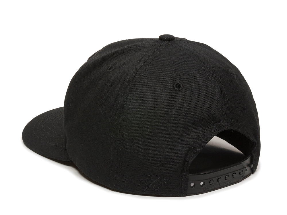 Sierra Scout Patch Snapback Cap Black Logo Side Hit