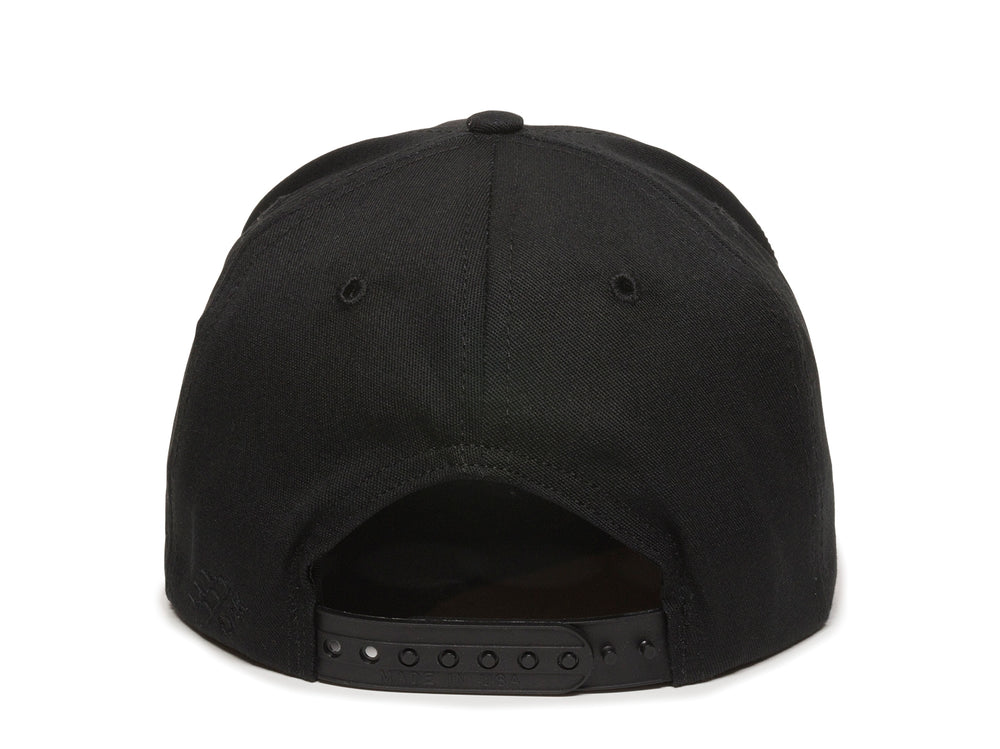 Sierra Scout Patch Snapback Cap Black Back View