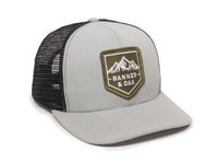Sierra Scout Patch Snapback Trucker Hat Gray Front Left View