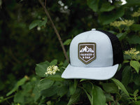 Sierra Scout Patch Snapback Trucker Hat Gray Lifestyle Image