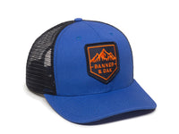 Sierra Scout Patch Snapback Trucker Hat Royal Blue Front Left View