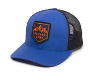 Sierra Scout Patch Snapback Trucker Hat Royal Blue Front Right View