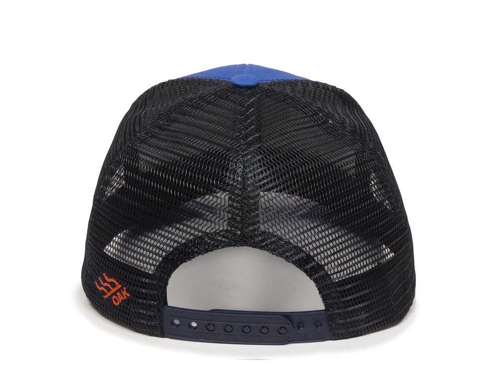 Sierra Scout Patch Snapback Trucker Hat Royal Blue Back View