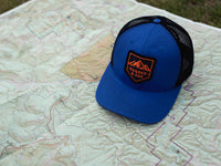 Sierra Scout Patch Snapback Trucker Hat Royal Blue Lifestyle Image