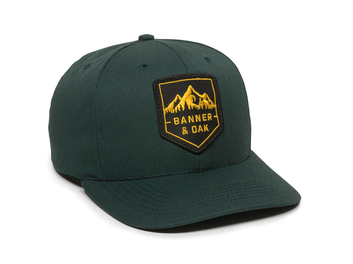 Sierra Scout Patch Snapback Cap Spruce Green Front Left View