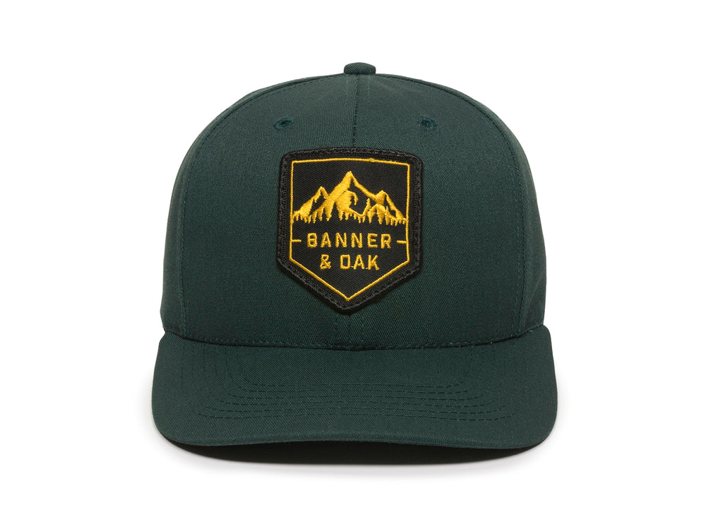 Sierra Scout Patch Snapback Cap Spruce Green Front View
