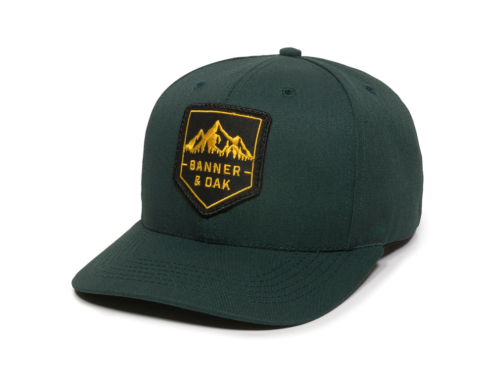 Sierra Scout Patch Snapback Cap Spruce Green Front Right View