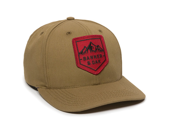 Sierra Scout Patch Snapback Cap Tan Front Left View
