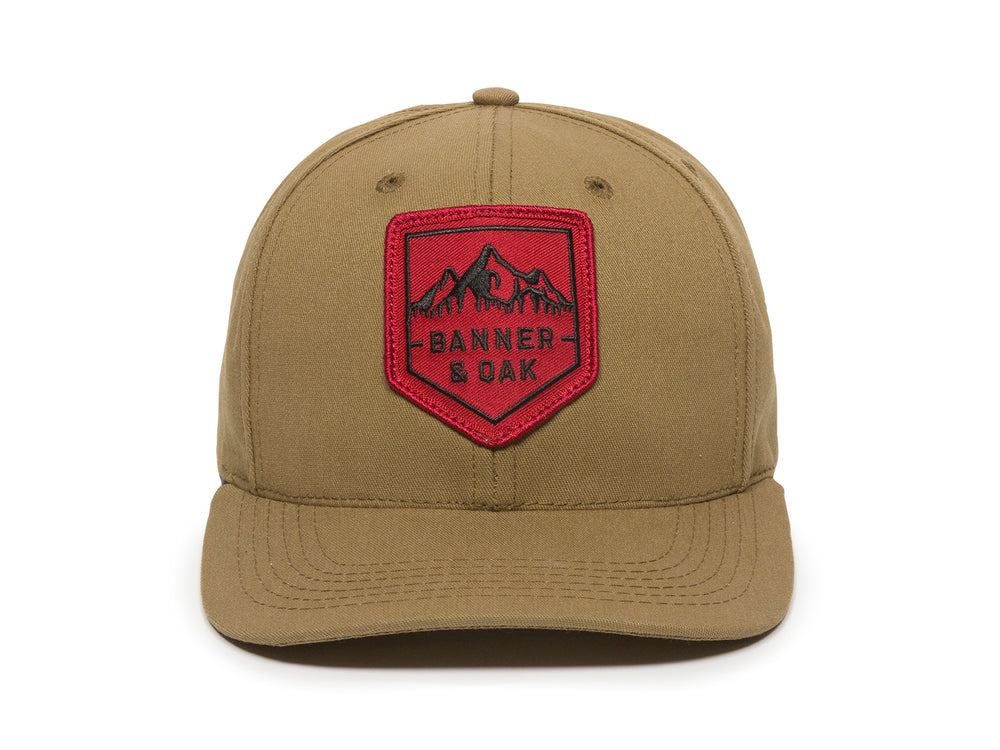 Sierra Scout Patch Snapback Cap Tan Front View