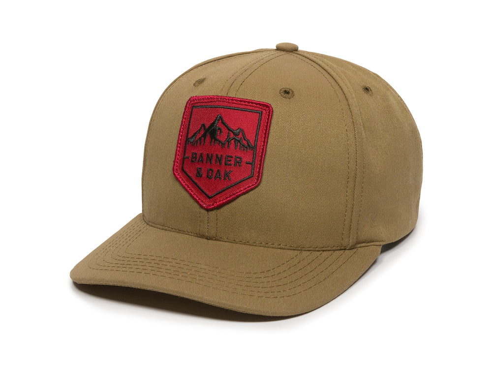 Sierra Scout Patch Snapback Cap Tan Front Right View